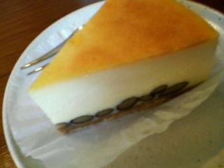 黒豆入りチーズケーキ