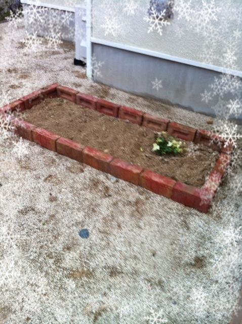 花壇作りました