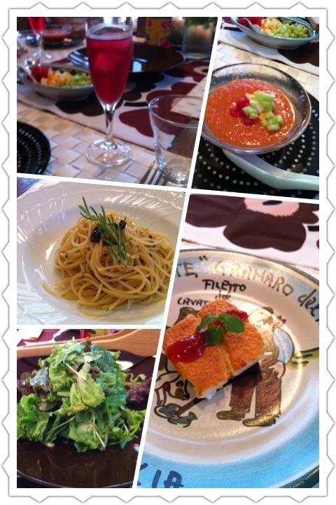 夏休みのイタリアン料理教室