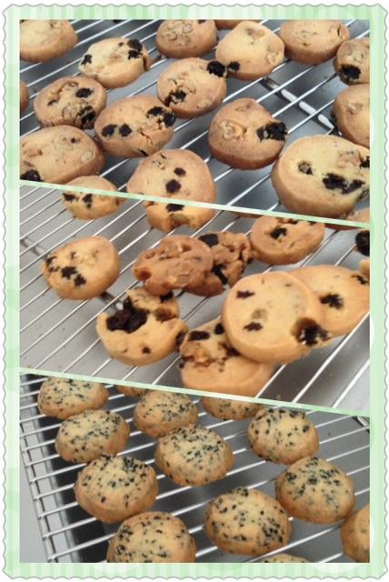 クルミレーズンと胡麻クッキー