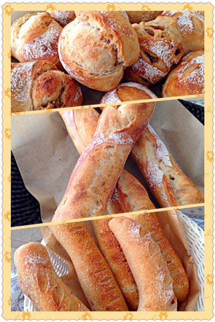今日のパンは、全粒粉のバリエーション