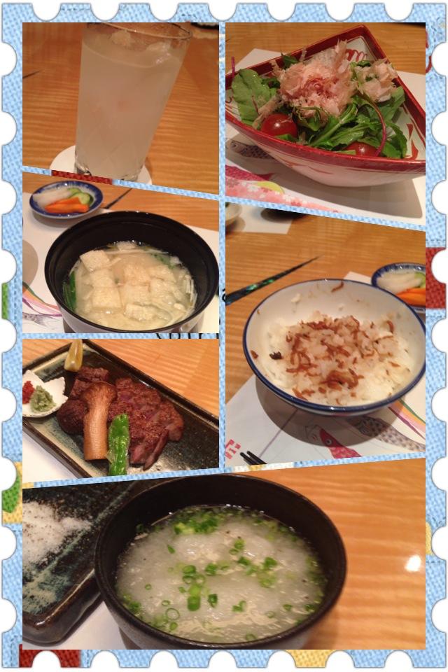 熊本の夕飯