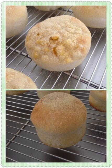 二種類の甘々娘パン