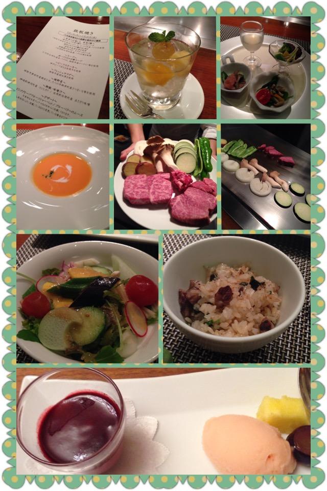 神戸ビーフの夕食