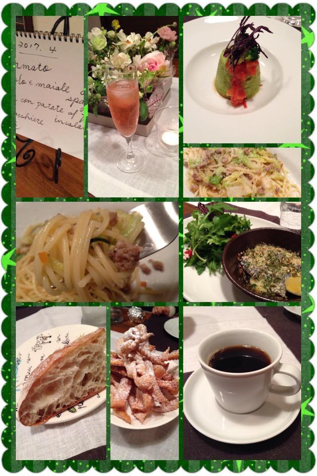 4月のイタリアン料理教室に参加。