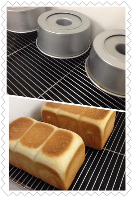 シフォンケーキと蜂蜜食パン