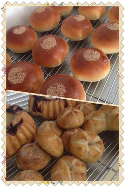 パンを焼きながら