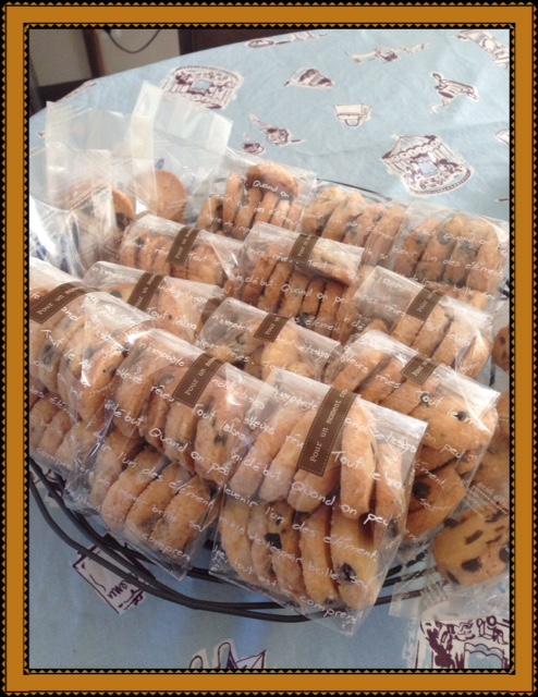 チョコチップクッキー出来てます。